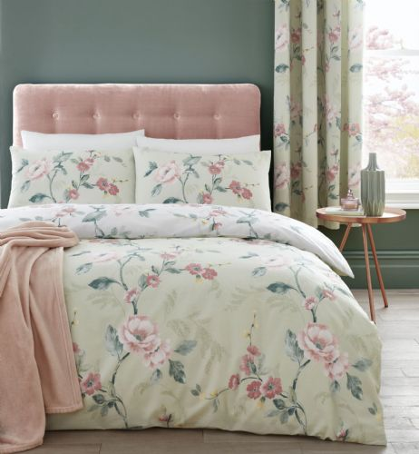 Catherine Lansfield Floral Trail Green Bedding Set